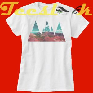 Abstract Mountains tees shirt