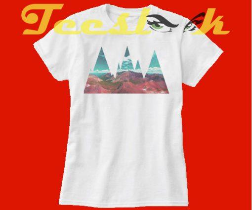 Abstract Mountains tees shirt
