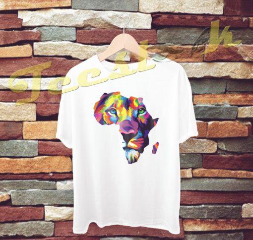 Africa Lion tees shirt
