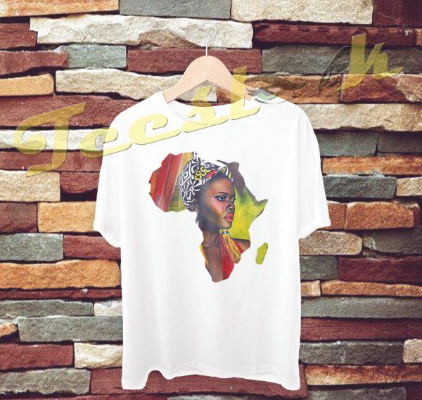 African Woman tees shirt