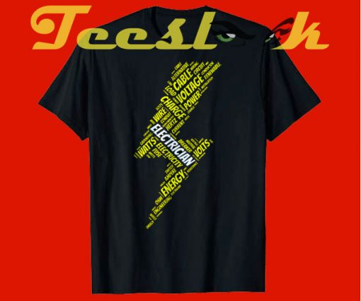 Electrician Thunderbolt tees shirt