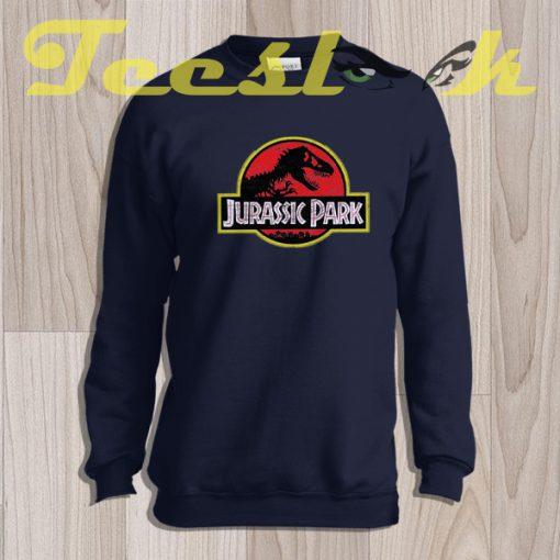 Sweatshirt Inspired By Jurrasic Park Vintage Distressed Print