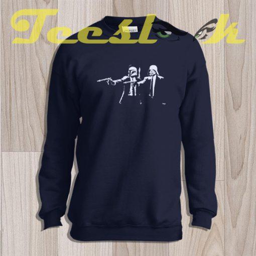 Sweatshirt Inspired By StarWars Pulp Fiction Banksy Mashup