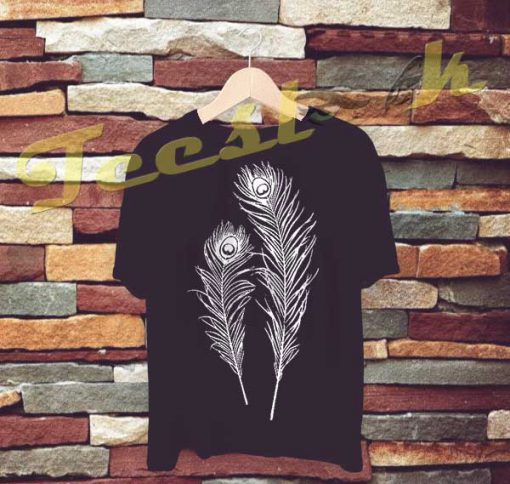 Peacock Feathers tees shirt
