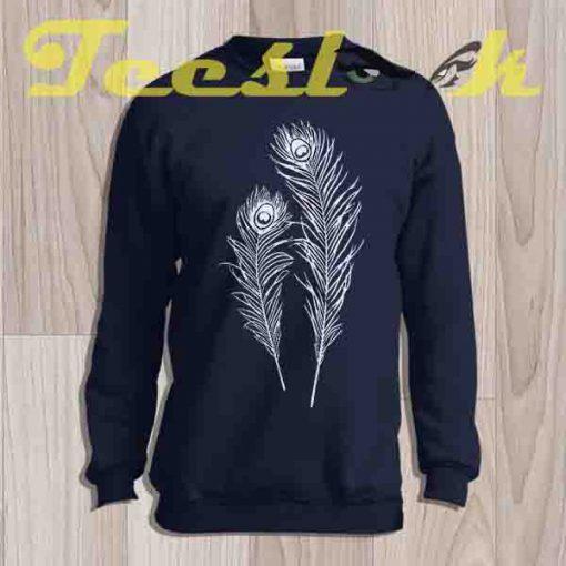 Sweatshirt Peacock Feathers
