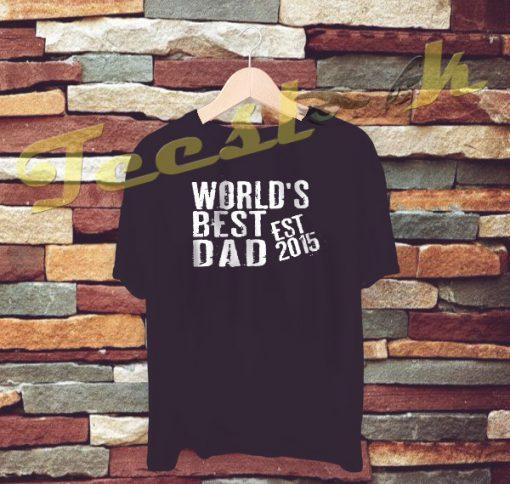 World's Best Dad tees shirt