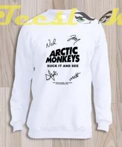 Sweatshirt arctic Monkey Cover Album signature
