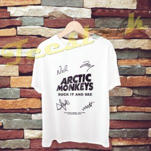 arctic Monkey Cover Album signature tees shirt