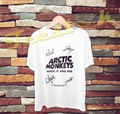 arctic Monkey Cover Album signature tees shirt