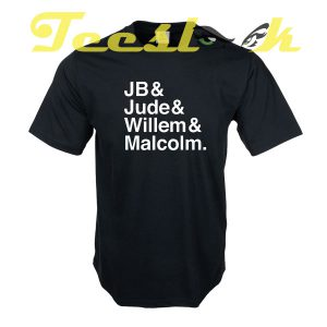 A LITTLE LIFE book JB & Jude & Willem & Malcolm tees shirt