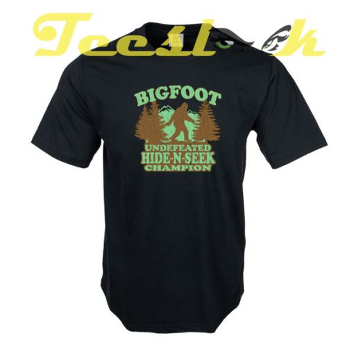 Bigfoot Hide N Seek Champion tees shirt