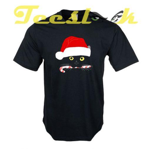 Christmas Cat Closeup tees shirt