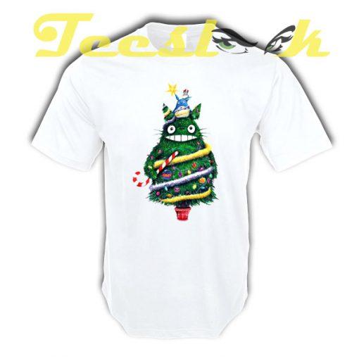 Christmas tree Totoro tees shirt
