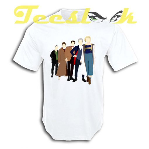 Doctor Who All Five Modern Doctors tees shirt