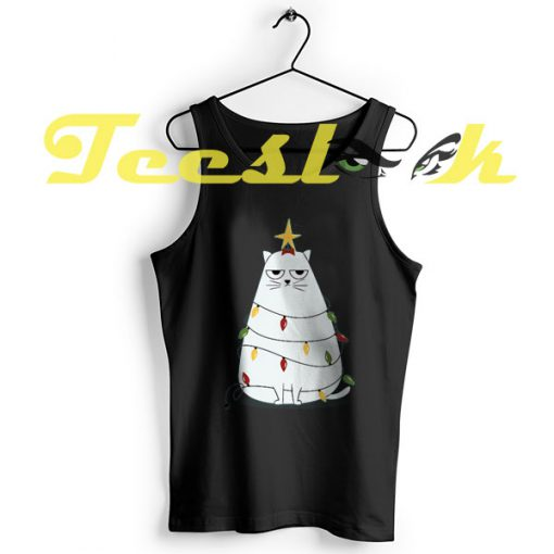 Tank Top Grumpy Christmas Cat