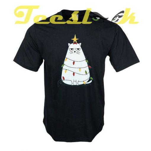 Grumpy Christmas Cat tees shirt