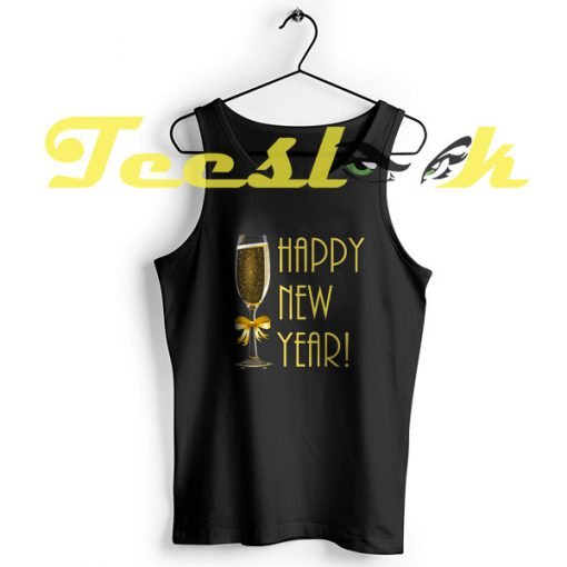 TankTop Happy New Year with Champagne