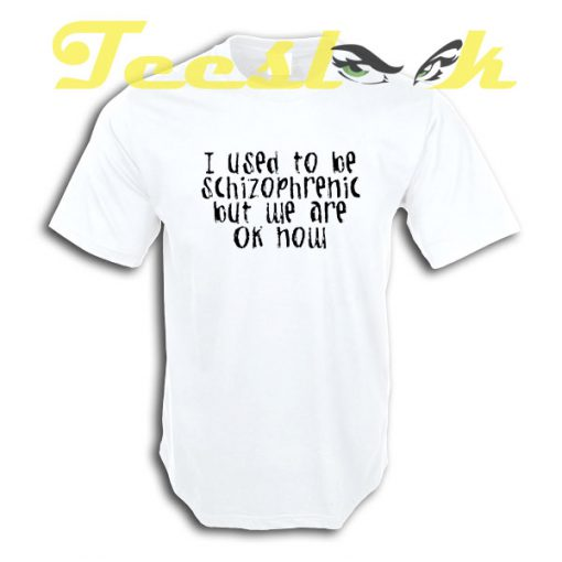 I used to be schizophrenic but WE are ok now tees shirt