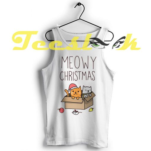 Tank Top Meowy Christmas Cats Holiday Pun