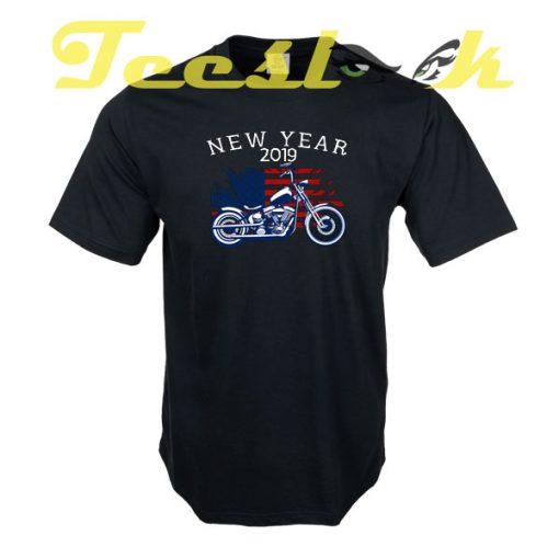 New Year 2019 Motorcycle tees shirt