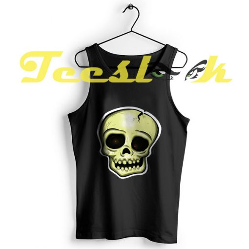 Tank Top Nihilism Skull I Live Inside Your Face