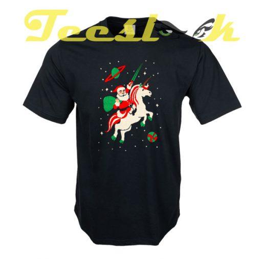 Santa and Unicorn tees shirt