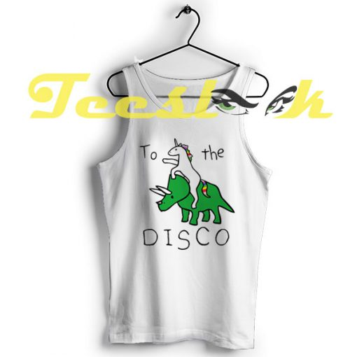 TankTop To The Disco Unicorn Riding Triceratops