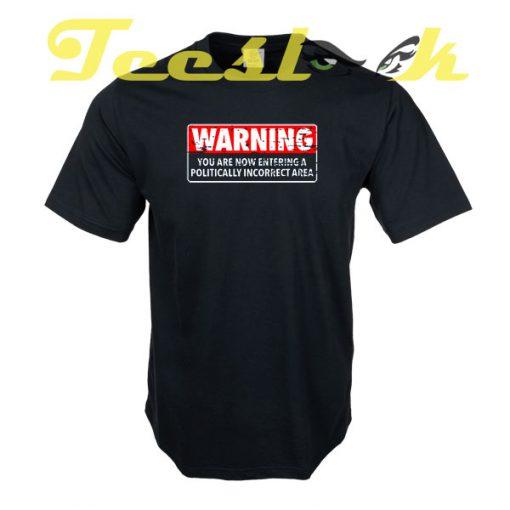 WARNING AREA tees shirt