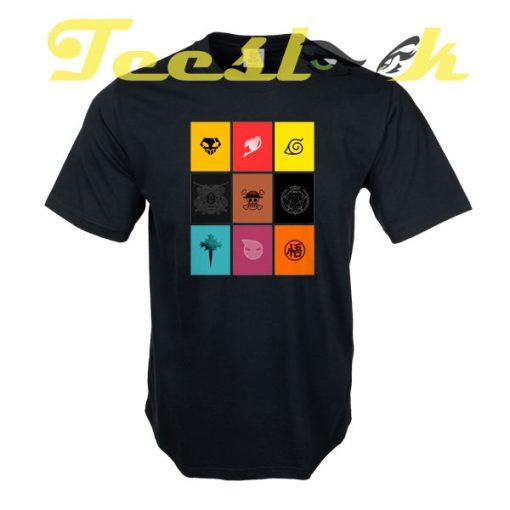 Anime Logos tees shirt