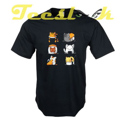 Cute Sushi Cats tees shirt
