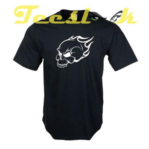 Flaming Skull tees shirt