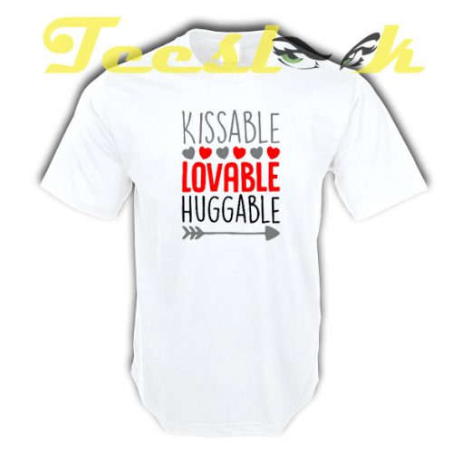 Kissable Valentine tees shirt