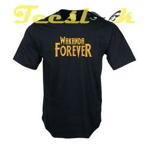 Wakanda Forever E tees shirt