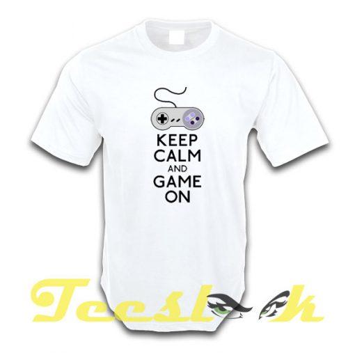 Keep Calm and Game on tees shirt