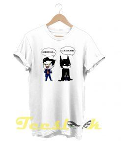 Batman and Joker tees shirt