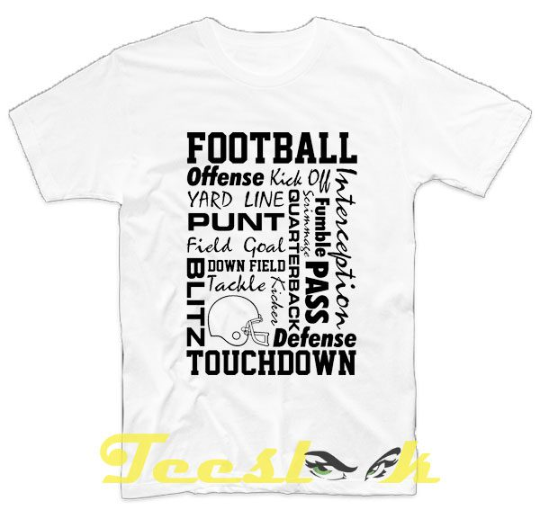 Football Words tees shirt