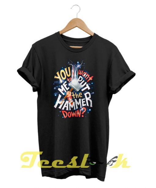 Thor Typographic tees shirt