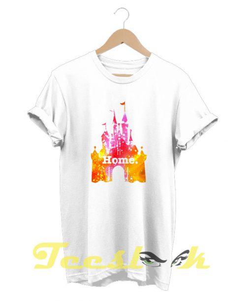 Castle Pink Yellow Glitter tees shirt