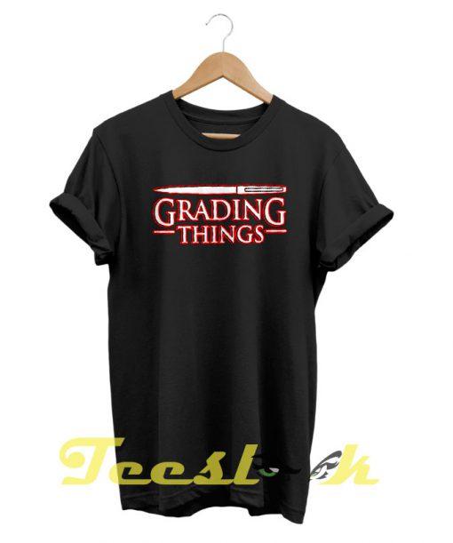 Grading Things Stranger Things tees shirt