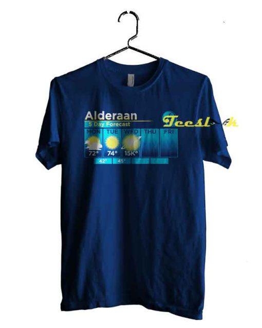 Alderaan 5 Day Forecast Tee shirt