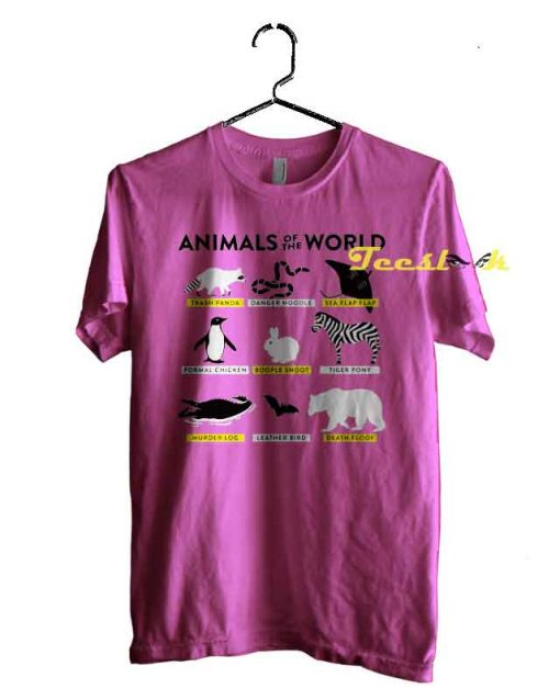 Animal Of The World Artwork Tee shirt