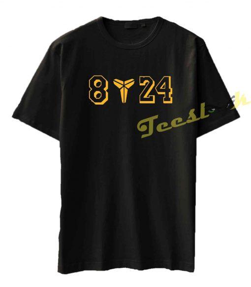 Black Mamba 8 24 Logo LA Lakers Tee shirt