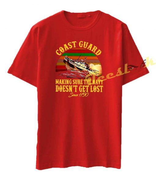 Coast Guard making sure the navy Tee shirt