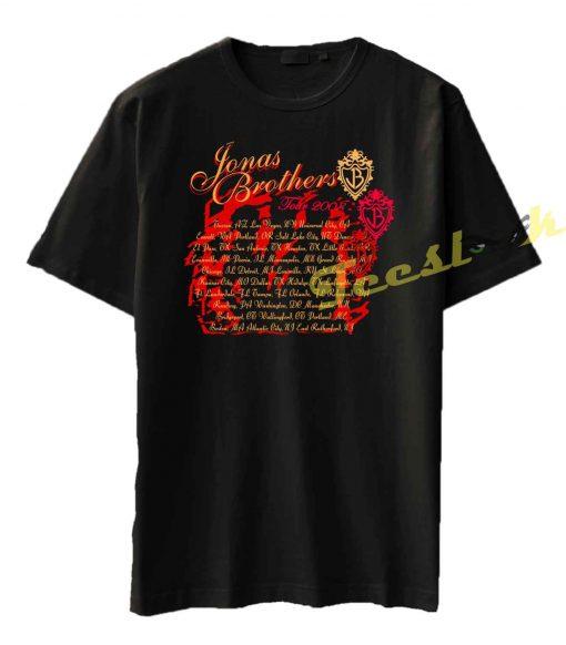 Jonas Brothers 2008 Tour Concert 02 Tee shirt
