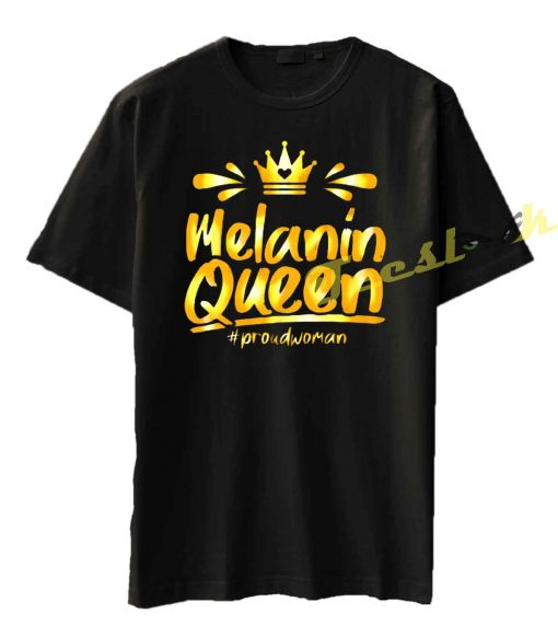 Melanin queen with crown Tee shirt