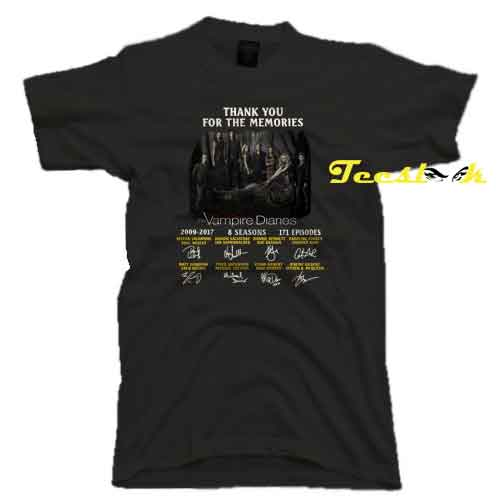 Thank you for the memories the Vampire Diaries signature Tee Shirt